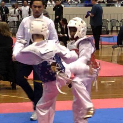 Taekwondo competition.